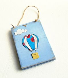 One of my own plaques by Tessella Designs ;  hot air balloon  www.facebook.com/TessellaDesigns    photo by Greta oto, via Flickr