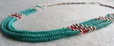 Turquoise and silver Necklace by LaMissBijoux on Etsy