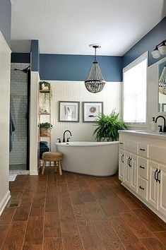 09 Farmhouse Rustic Master Bathroom Remodel Ideas #bathroomideas