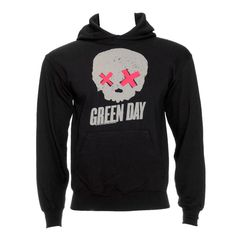Green Day #Skull Hoodie (Grey). i needs all the #greenday clothes..