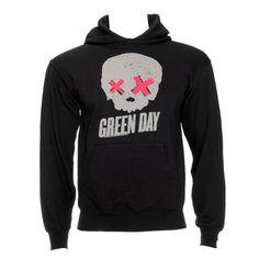 Green Day Skull Hoodie (Grey)