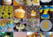 Como hacer cupcakes para baby shower patitos