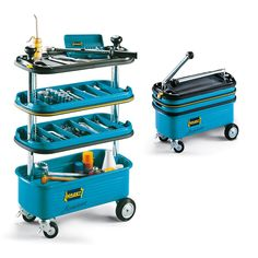 Hazet HZ166N: Collapsible Tool Trolley :: Gadgetify.com