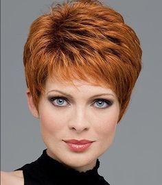 coiffure courte rousse