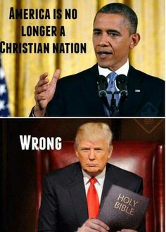 Obarfo has no idea what a nation this is..he hates America so much...but it is a Christian nation and will always be one!!! God promised us in His Word, the Bible!!!!!! Amen President Trump!