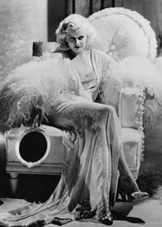 Jean Harlow and her giant hand mirror