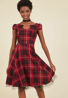 Showtime of Your Life A-Line Dress in Red, @ModCloth