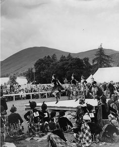 Luss Highland games 1935 July 18. Numbers are pinned on the back.