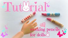 Tutorial : how to make working colored pencils for dolls ❤