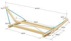 Hammock Frame, Diy Hammock, Backyard Hammock, Hammock Stand, Hammocks, Hanging Beds, Hanging Hammock, Pallet Furniture, Furniture Plans