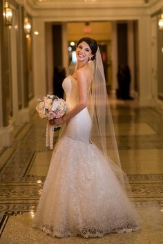 FEATURED on Strictly Weddings: Romona Keveza bride Katie wows in Legends gown L374