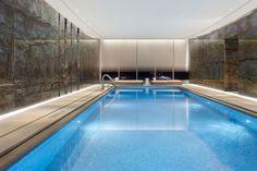 One Madison Park : Luxury Residential Condominium, New York / Yabu Pushelberg Hotel Swimming Pool, Indoor Swimming Pools, Swimming Pool Designs, Pool Spa, Hotel Pool, Yabu Pushelberg, Pool Images, Modern Pools, Luxury Pools