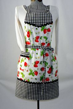 Vintage Aprons for Women | Women's Full Retro Kitchen Apron - Chef's Apron - ... | CSA-Aprons/Bi ...