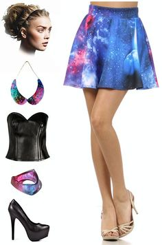 Brand new in stock at Le Bomb Shop! Galaxy Print skirt! Find it here: http://www.ebay.com/itm/50s-Inspired-SPACE-AGE-Blue-Celestial-GALAXY-Print-High-Waisted-FULL-Mini-Skirt-/121084002272?pt=US_CSA_WC_Skirts==item61d19cecc7