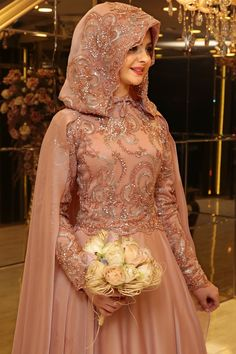 Pin by saaaaa on vb Wedding hijab styles, Hijab fashion, Hijab dress Muslimah Wedding Dress, Muslim Wedding Dresses, Muslim Brides, Bridal Dresses, Islamic Fashion, Muslim Fashion, Hijab Fashion, Hijabi Gowns, Hijab Dress