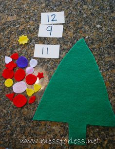Mess For Less: Christmas Tree Math Game