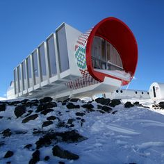 LEAPrus is a hotel comprising four modular bunkers by Italian architects LEAPfactory, which has opened near the top of Mount Elbrus in Russia.