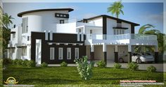 Unique Homes | Unique, stylish, trendy Indian house elevation - Kerala home design ...