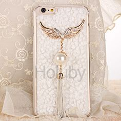 Soft TPU Tassel Flannel Case Cover for iPhone 6 6S - White