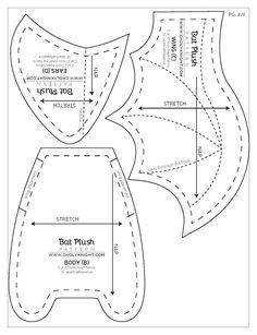 Moldes para hacer un murcielago en fieltro paso a paso - Ideas de Manualidades