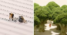 Más grande no siempre significa mejor, y lo demuestra el artista japonés Tatsuya Tanaka con sus diminutos dioramas, que prepara para su proyecto Miniature Calendar.  http://www.boredpanda.es/calendario-diario-dioramas-miniatura-tanaka-tatsuya-2/