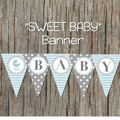 Carriage Baby Shower Decorations Printable by BumpAndBeyondDesigns