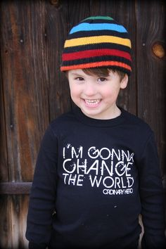 Found this on the 'Ordinary Hero' online store.  Many of you have probably seen the pin of an adorable little lady wearing the same shirt in red.  Their mission is to inspire and empower ORDINARY people to make an extraordinary difference in the life of a child in need.  Read more about their efforts or purchase products at the link below.  http://www.ordinaryherostore.org/