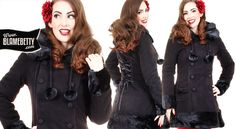Love the Sarah Jane Coat in black! It is definitely going to be a classic. #blamebetty #outerwear #pinupfashion