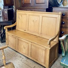 A beautiful antique Farmhouse Pine Box Settle of elegant form and desirable proportions. Constructed from gorgeous pale antique pine with a strong and sturdy frame. Antiques Atlas Antique Pine Furniture, Country Furniture, Welsh Country, Monks Bench, Antique Farmhouse, Small Cars, Get Directions, Own Home, Benches