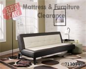 """$189.99 Ian Tuxedo Flip Flop Armless Sofa. Frames have been tested to GSA government standards. Corners are glued, blocked and stapled. Seats and back spring rails are cut from 7/8"""" hardwood. Stripes and patterns are match cut. All fabrics are pre-approved for wearability and durability against AHMA standards. Cushion cores are constructed of low melt fiber wrapped over high quality foam."""