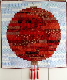 Chinese Lantern, strip quilt by Vreni Kohler at Oops-Lah