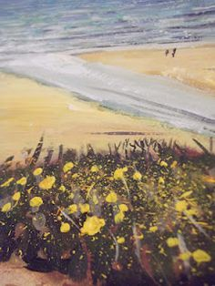 Gorse detail, and a couple on the beach