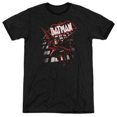 Beware the Batman From The Top Black Ringer T-Shirt