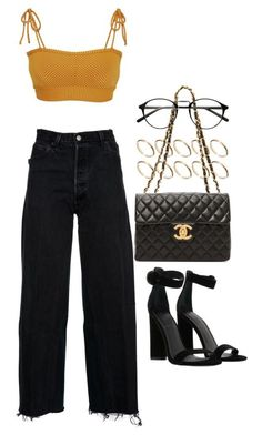 """Untitled #2425"" by mariie00h ❤ liked on Polyvore featuring RE/DONE, Made By Dawn, Kendall + Kylie, ASOS and WGACA"