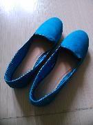 全新  藍色鞋