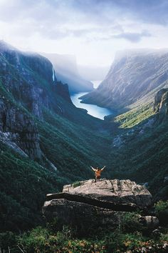 vhord: dreamingofcastles: Western Brook Pond Fjord, Gros Morne National Park (by Newfoundland and Labrador Tourism) strictly nature Mostly nature Oh The Places You'll Go, Places To Travel, Places To Visit, Travel Destinations, Adventure Awaits, Adventure Travel, Adventure Holiday, Gros Morne, Newfoundland And Labrador