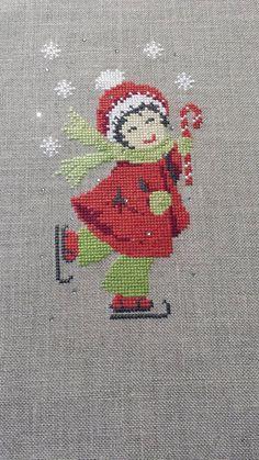 Cross Stitch Christmas Ornaments, Xmas Cross Stitch, Christmas Cross, Cross Stitch Charts, Cross Stitching, Cross Stitch Embroidery, Cross Stitch Patterns, Halloween Embroidery, Christmas Embroidery