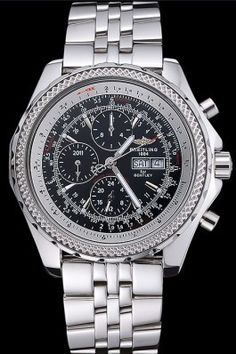 Replica Breitling Bentley GT Racing Black Dial Stainless Steel Case And Bracelet 622217
