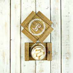 Personalized Coaster Set- Monogram Coasters- Wood Coasters- Drink Coasters- Custom Coasters- Monogrammed Gifts- Personalized Gifts