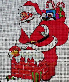 Needlepoint Canvas - Santa claus christmas nicholas
