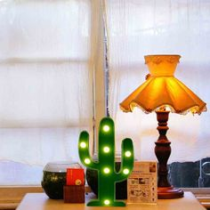 YiaMia LED Cactus Light