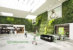 Wandbegrünung, Kaufhaus, Schweden, gruene wand, Foto: greenfortune.com