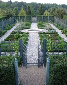 Grand Vegetable Garden with Fountain - AJF Design