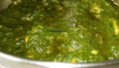 Spinach Chicken | Pakistani Food Recipes    Note : Add some cream while garnishing.