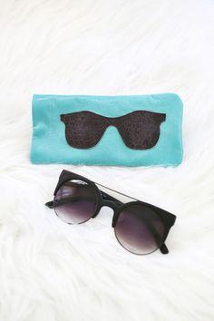 leather sunglasses holder (DIY)