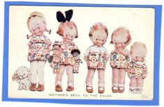 OLD VINTAGE POSTCARD ARTIST SIGNED MABEL LUCIE ATTWELL GIRLS GOLLY GOLLIWOG BABY | eBay