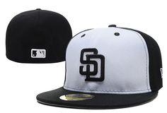 Cheap Wholesale MLB San Diego Padres 59Fifty Hats Retro Classic Pop Caps White 017 for slae at US$8.90 #snapbackhats #snapbacks #hiphop #popular #hiphocap #sportscaps #fashioncaps #baseballcap