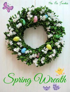 Pretty spring wreath @PinJunkie The Pin Junkie: Spring Wreath #SCBH2015