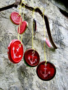 Windspiel aus Deckeln / Wind chimes with lids / Upcycling