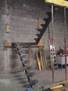 Fabrication escalier double quart tournant avec palier